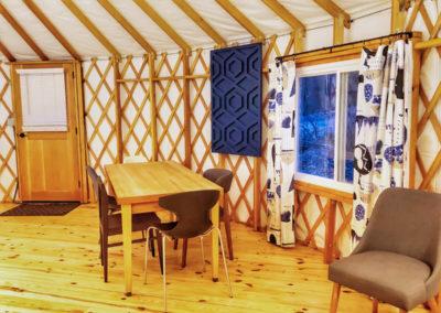 30' Yurt Dining Space