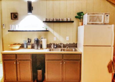 30' Yurt Kitchenette Area