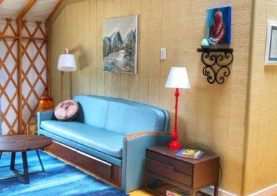 Large Yurt Rental Interior