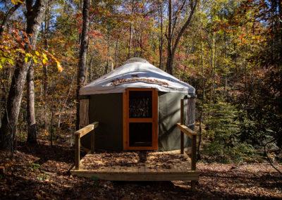 16' yurt progress